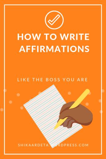 Write Affirmations Like A Boss  Pin