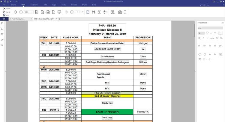 PDFelement Edit Class Schedule Shika's College Lifestyle Blog